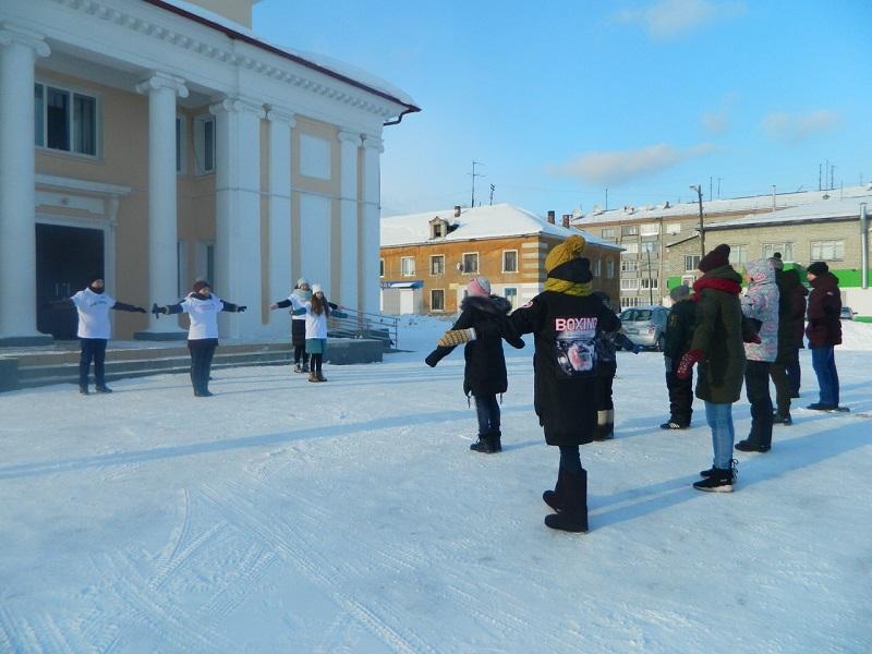 26 января на площади Центра культуры и кино «Родина» состоялась акция «В здоровом теле - здоровый дух!».