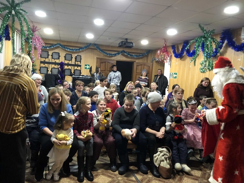 в рамках акции «Жизнь дана на добрые дела» состоялась праздничная развлекательная программа «Новогодье 2020» для детей инвалидов Артемовского городского округа