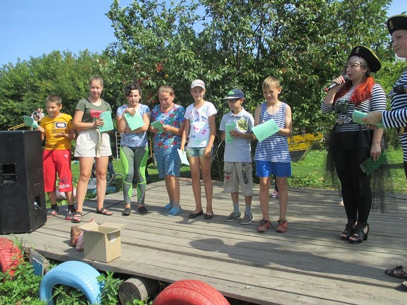16 августа в микрорайоне 1/2 состоялась детская игровая программа «Рекордсмены с кораблика»