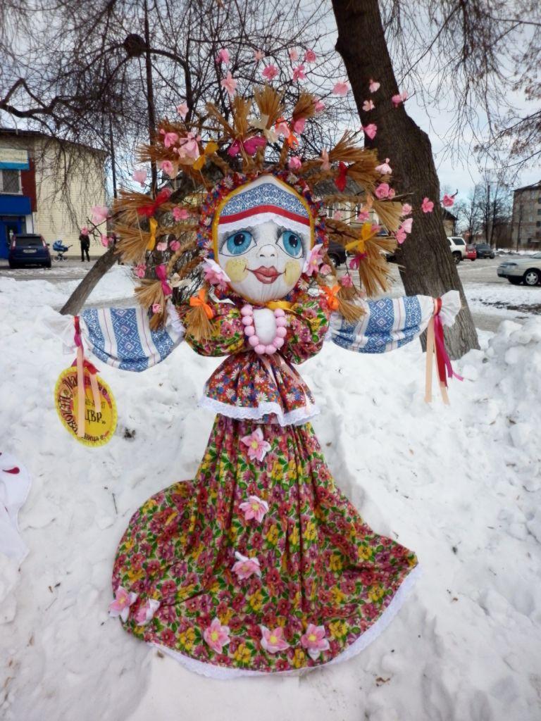 V поселковый конкурс изготовления чучел Масленицы «Масленица широкая, да раздольная…»